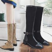 一件免運-chic馬丁靴女英倫風2019秋冬新款網紅長靴女過膝靴長筒高筒靴子女