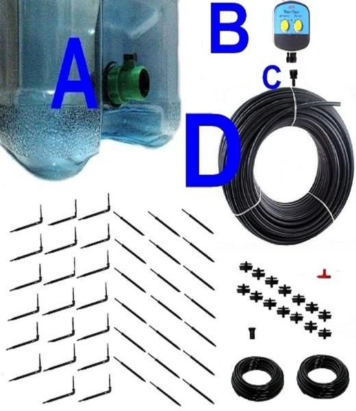 20公升水桶式單孔定時滴劍套裝(40組滴劍)