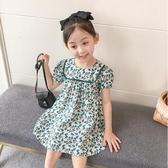 女童洋裝 女童連身裙夏裝2020新款寶寶韓版洋氣碎花小清新兒童夏季短袖裙子 零度3C