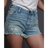 ONETEASPOON  WW  KANSAS BLUE BONITA HIGH WAIST DENIM SHORT  牛仔短褲-(女)