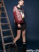 【2%】miffy X 2% 格紋米飛針織外套_紅