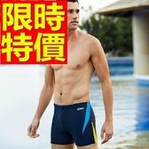 四角泳褲-溫泉俐落彈力游泳男平口褲56d18[時尚巴黎]