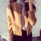秋裝新款女裝針織衫開衫韓版寬鬆外搭毛衣秋冬女士短款上衣外套厚 草莓妞妞