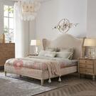 [紅蘋果傢俱]美式 後現代 輕奢 ML6707床 床架 雙人床 布床 臥室 房間