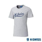 K-SWISS Script KS Logo Tee印花短袖T恤-男-灰