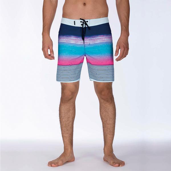 Hurley M HRLY PHTM OVERSPRAY BDST 18 GRIDIRON 海灘褲-PHANTOM
