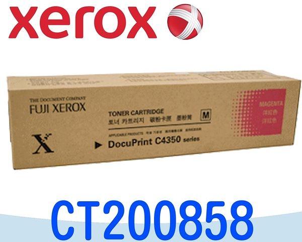 [原廠碳粉匣] Fuji Xerox 富士全錄 Docu Printer C4350  ~CT200858 紅色