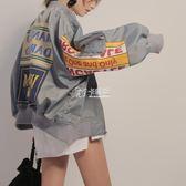 棒球服女韓版ulzzang情侶學生小丑夾克原宿BF風開衫短外套潮   卡菲婭