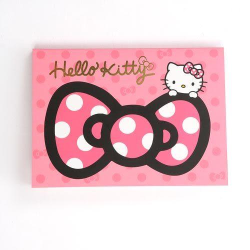 ★funbox生活用品★《Sanrio》HELLO KITTY緞帶文具系列A6便條本(粉) UA42400