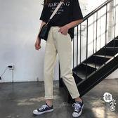 牛仔褲 - 原宿淺色牛仔褲女修身小腳鉛筆褲長褲【韓衣舍】