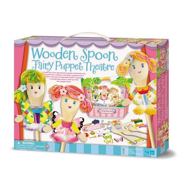 【4M】04592 美勞創意-花精靈木偶劇團 Wooden Spoon Fairy
