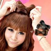 Qmishop TVBS推薦 聖誕跨年派對必備lady gaga女神卡卡 蝴蝶結假髮髮梳【QP022】