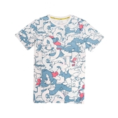 Asics 短袖T恤 All Over Print T-Shirts 白 藍 紅 男款 短T 印花 運動休閒 【PUMP306】 2191A225100