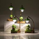店長推薦創意可愛桌面擺件家居裝飾品客廳房間擺設電視柜旅行青蛙 芥末原創