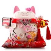 存錢罐 吉貓堂招財貓擺件開業禮品店鋪陶瓷創意家居擺放儲蓄罐