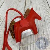 BRAND楓月HERMES 愛馬仕 RODEO HORSE PM A刻 紅色咖啡色 小馬吊飾 配件 飾品