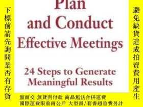 二手書博民逛書店Plan罕見And Conduct Effective Meet