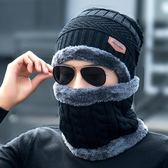 帽子男冬天毛線帽加厚針織帽套頭棉帽保暖潮青年韓版冬季帽男  傑克型男館