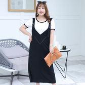 中大尺碼~單孔絲背心裙套裝(XL~4XL)