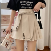 工裝裙2020新款韓版不規則A字半身裙女顯瘦高腰百褶裙短裙子 黛尼時尚精品
