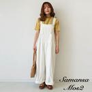 「Summer」棉麻混紡工作風平口連身褲 (提醒 SM2僅單一尺寸) - Sm2