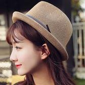 草帽-防曬個性有型海邊渡假女爵士帽8色73rp68[時尚巴黎]