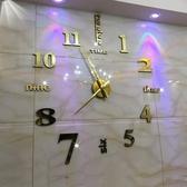 掛鐘 歐式墻貼超大簡約掛鐘 客廳時尚藝術靜音掛錶DIY個性時鐘創意鐘錶jy【全館免運】