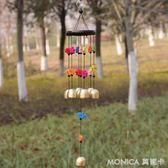 彩魚黃銅鈴鐺日式金屬風鈴旺運家飾掛飾門飾生日禮物 莫妮卡小屋