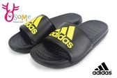 adidas運動拖鞋 成人男款 休閒 輕便 Voloomix 防水拖鞋O9390#黑黃◆OSOME奧森鞋業