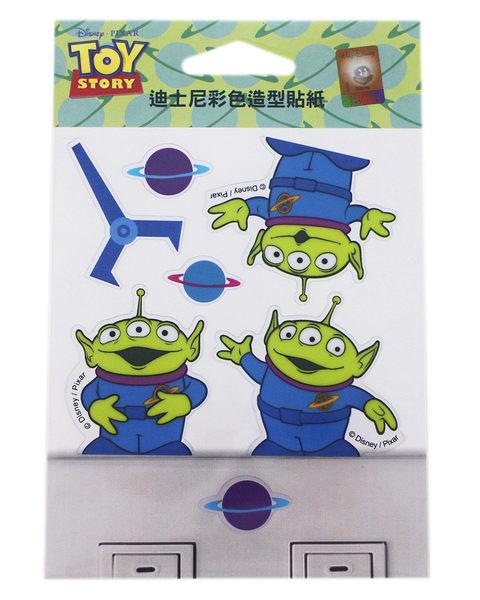 【卡漫城】 三眼怪 開關貼 ㊣版 透明防水 造型貼紙 玩具總動員 Toy Story Alien 台灣製 裝飾貼 壁貼