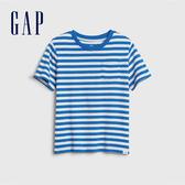 Gap男幼棉質舒適圓領短袖T恤545904-藍色條紋