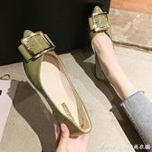 單鞋女平底2021春款百搭尖頭四季鞋淺口晚晚鞋夏季配裙仙女鞋 快速出貨