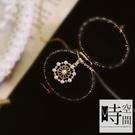 『時空間』典雅鏤空花朵珍珠鑲鑽交織造型(14Kgpゴールド)項鍊 -單一款式