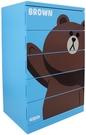 【震撼精品百貨】LINE FRIENDS_兔兔、熊大~五斗櫃-熊大藍【共1款】