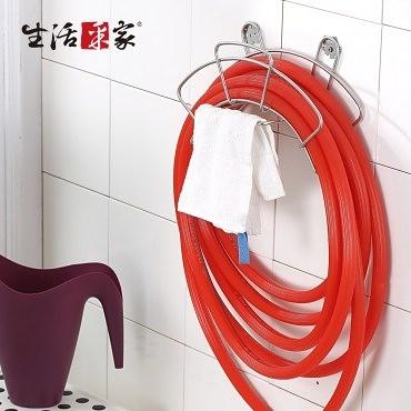 【生活采家】台灣製304不鏽鋼水管抹布收納架(#27020)