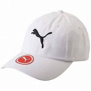 KUMO SHOES-Puma Baseball Cap 白 黑 基本款 棒球帽 052919