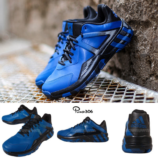 adidas 籃球鞋 Crazyquick 3.5 Street 運動 低筒 藍黑 男鞋【PUMP306】 AQ8240