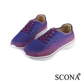SCONA 輕量高彈力繫帶休閒鞋 淺紫色 7246-2
