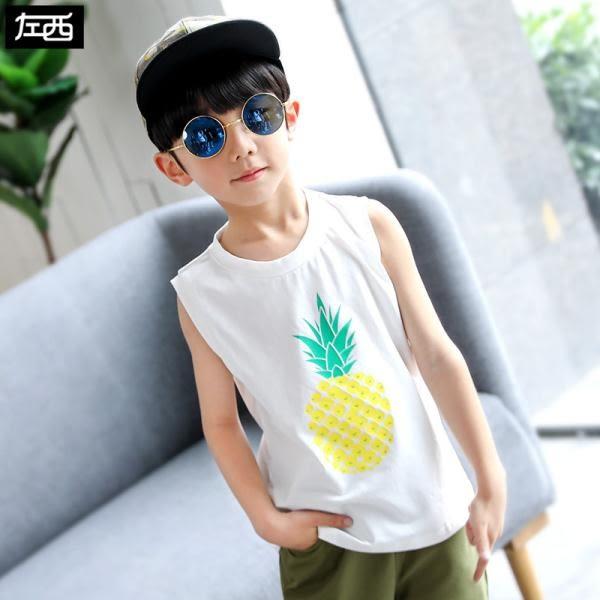 男童背心 兒童無袖t恤夏季透氣