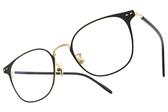NINE ACCORD 光學眼鏡 TI MARCUS1 C2 (霧黑-金) 韓系復古細方框款 平光鏡框 # 金橘眼鏡