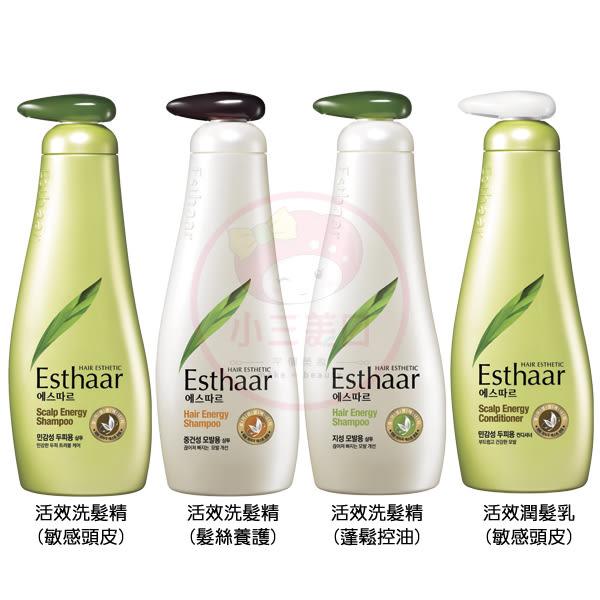 韓國 Esthaar愛絲卡 天然幼芽活效洗髮精/潤髮乳(500ml)【小三美日】原價$199