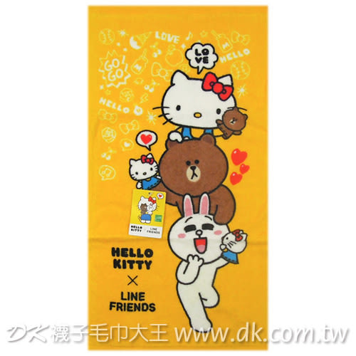 Kitty&Line疊疊樂童巾 ~DK襪子毛巾大王