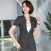 無領帥氣流線面試OL短袖西裝外套[20S130-PF]美之札