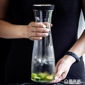 日式冷水壺涼水壺玻璃水壺耐熱防炸耐高溫家用大容量涼水杯果汁壺 極有家