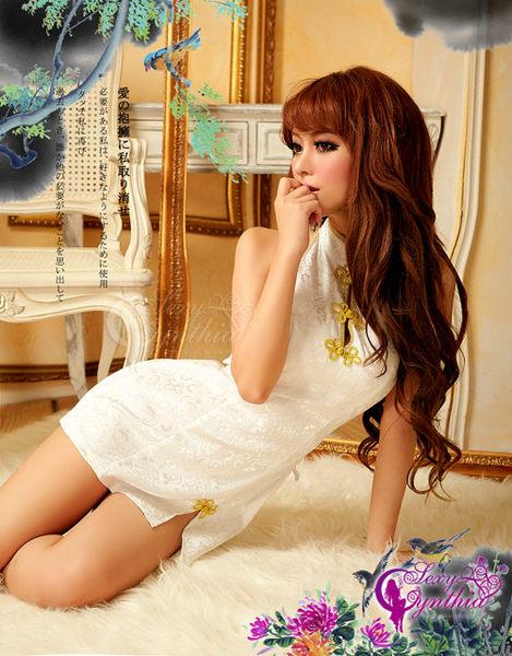 【愛愛雲端】角色扮演 性感內衣 性感睡衣 連身貓裝 緞面 美背 旗袍 NA13030050