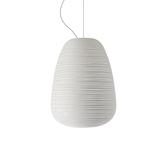 義大利 Foscarini Rituals 1 Suspension Lamp 24cm 玻璃刻紋系列 霧白 造型吊燈 - 高挑型