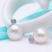 925純銀耳環珍珠(耳針式)-有型創意生日情人節禮物女飾品73ah1【巴黎精品】
