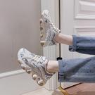 老爹鞋 老爹鞋女夏季透氣潮新款百搭學生休閒顯腳小運動鞋子-Ballet朵朵