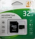【小樺資訊】含稅 宇瞻 APACER 記憶卡 32G MicroSDXC C10/適用手機/平板/行車記錄器