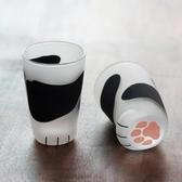風格耐熱玻璃 貓爪杯貓足杯貓腳牛奶杯子貓腿可愛女水杯 美好生活居家館